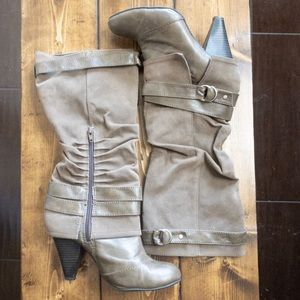 Fergalicious tall boots | Taupe Heeled size 8